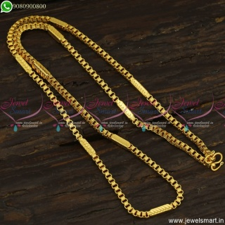 3 MM Gold Plated Chains Catalogue Model 24 Inches Daily Wear Covering Jewellery Online C23513
