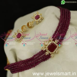 5 Line Crystals Beaded Choker Necklace Preferred Fashion Trends Ideas For Wedding
