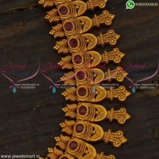 Admirable Long Necklace for Sarees Skillful Kerala Fashion Jewellery Online NL22256