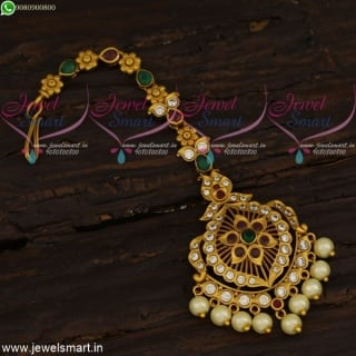 Antique Jewellery Designs Floral Maang Tikka latest Fashion Collections T21616
