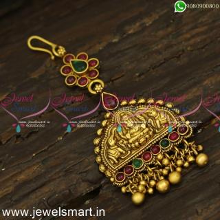 Antique Nethichutti Designs Gajalakshmi Temple Jewellery Maang Tikka NewT24342