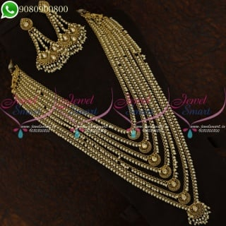 Antique Pearl Golden Layer Long Necklace Necklace Fashion Jewellery Collections NL21215