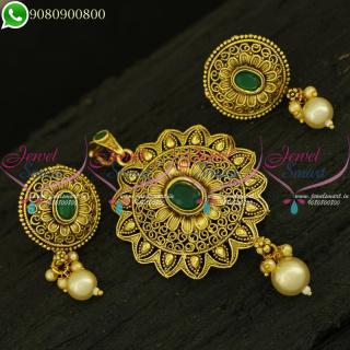 Antique Pendant Sets Low Price Artificial Jewellery Designs Online PS21015