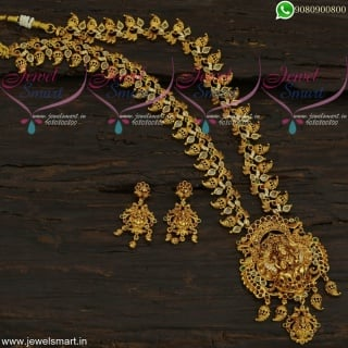 Antique Temple Jewellery Sets Gold Design Imitation Long Necklace Collections NL21853