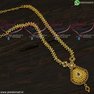 Artificial Gold Chain With Pendant Charming Indian Jewellery Designs CS21921