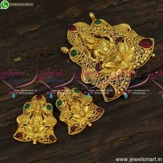 Astonishing Gold Temple Jewellery Inspired Dollar Designs Small Ear Studs PS23915