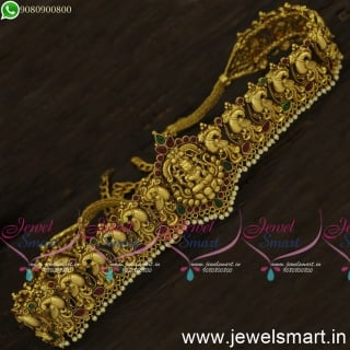 Awesome Nagas Flexible Chain Vaddanam Handcrafted Gold Oddiyanam For Brides