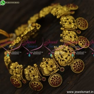 Awesome Nagas Temple Jewellery Silver Inspired Lakshmi Gold Necklace Designs
