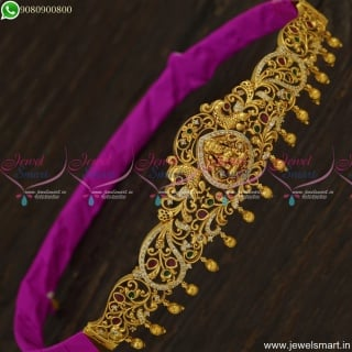 Baby Temple Vaddanam Antique Gold Jewellery Designs For Kids Party Wear