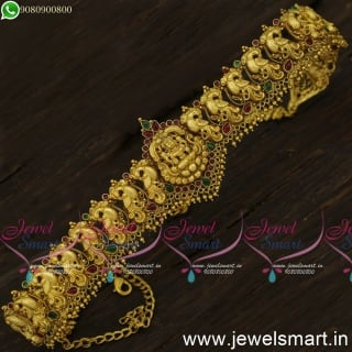 Bahubali Jewellery Designs Amazing Temple Vaddanam For Brides and Wedding
