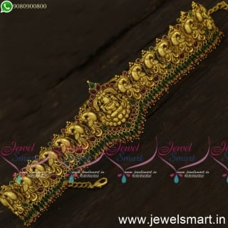 Bahubali Style Temple Vaddanam Nagas Jewellery Designs Double Layer Crystals