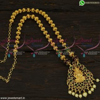 Beaded Temple Jewellery Latest Gold Necklace Designs Original Kemp Stones Online