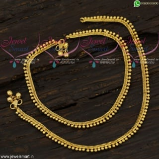 Beads Model Golusu South Indian Gold Plated Jewellery Anklets Online A21717