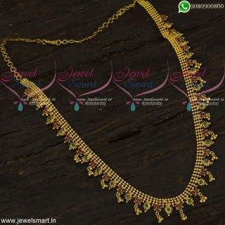 Beads Model Simple Long Necklace Gold Covering Fashion Jewellery Online NL19050