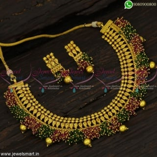 Beautiful Antique Colour Beads Fashion Jewellery Set for Indian Festivals Dress Matching NL22842