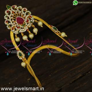 V24374 Beautiful Bajuband Designs for Girls Low Price Medium Size Online