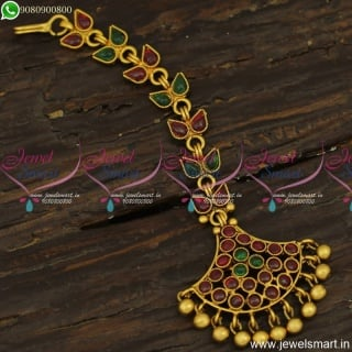 Beautiful Gold Nethi Chutti Designs Antique Finish Artificial Jewellery Online T23860