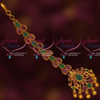 Beautiful Stone Maang Tikka Semi Precious Designer Jewellery CollectionsT14161A