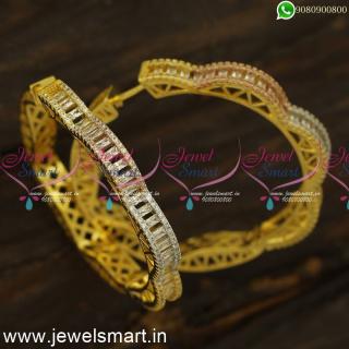 Bend Pattern Glowing Fashion Earrings Bali Form Gold Plated JewelleryER24490
