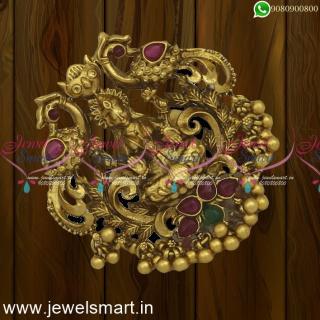 Big Size Laxmi God Temple Finger Rings Adjustable Bridal Jewellery Online