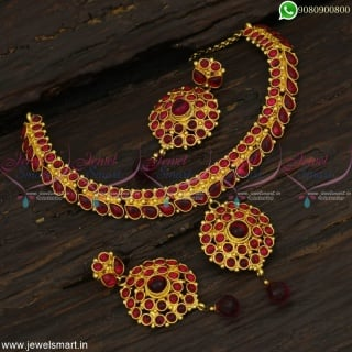 Big Stones Kemp Necklace Set Traditional Jewellery at Offer Prices Online NL22853