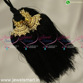H 24364 Black Dori Hair Kuppulu For Marriage South Indian Artificial Jewellery Online