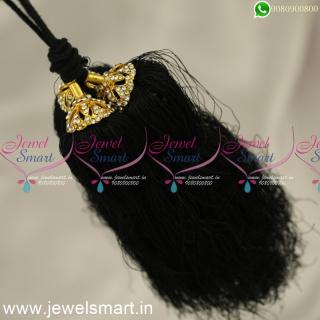 H24367 Black Dori Nool Jadai Kunjalam For Marriage Artificial Accessories for Hair Online