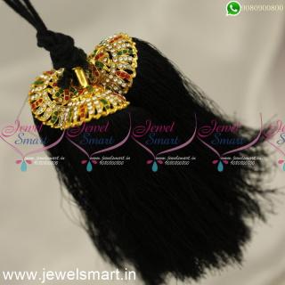 H24362 Black Thread Jadai Kunjalam South Indian Wedding Jewellery Online
