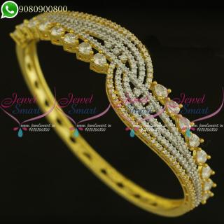 Bracelet For Women Gold Plated CZ Stones Diamond Design Shop Online B21108