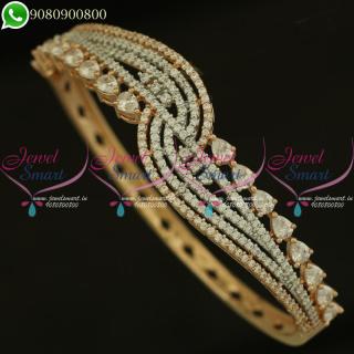 Bracelet For Women Rose Gold Plated CZ Stones Diamond Design Shop Online B21109