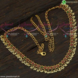Bridal Fashion Jewellery Collections Stone and Simple Pearl Hip Chains Online