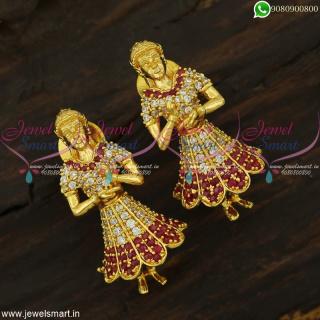 Beautiful Doll Gold Design Butta Bomma Jhumka Earrings Imitation Jewellery Trends