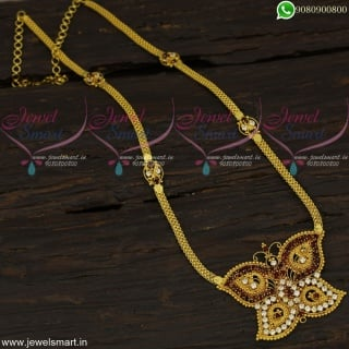 Butterfly Model Pendant Simple Stone Haram Gold Designs Online