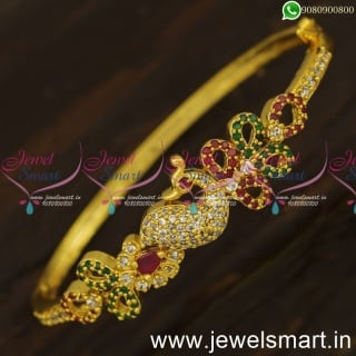 Catalogue Photos Mayil Gold Bracelet Design Clip Open Kada Shop Online B24056