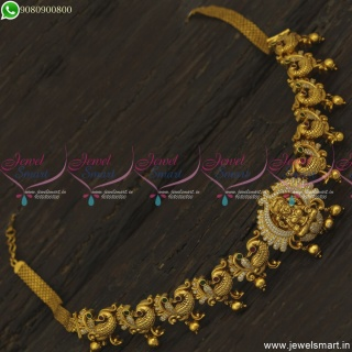 Chain Vaddanam One Gram Gold Temple Jewellery Peacock Hip Chains Online H23798