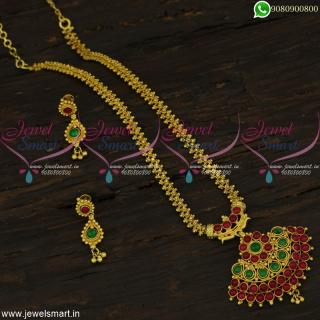 Charming Gold Chain Designs With Original Kemp Stones Pendant OnlineCS22383