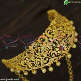 Charming Gold Plated Choker Necklace Screwback Jhumka Earrings Online NL23317