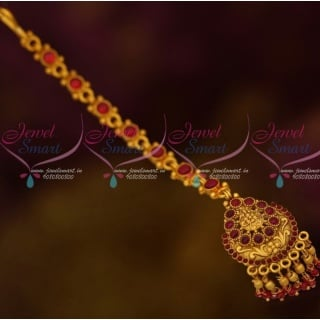 Charming Nethichutti New Maang Tikka Beads Layered Traditional Jewellery