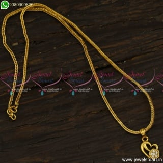 Classic Chain Pendant Designs Kodi Square Chain With Heart Pendant CS23493