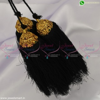 Classical Dance Accessories for Hair Gold Plated Jadai Kunjalam Premium Jewellery H22908
