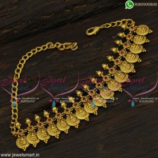 Coin Bajuband Bridal Jewellery Belt Aravanki Kids Vaddanam Temple Design V22290