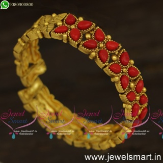 Coral Red Watch Bracelet For Women Antique Fashion Jewellery Online