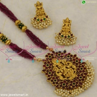 New Traditional Jewellery Trends 2020 Crystal Beads Temple Jewellery Mala NL21241