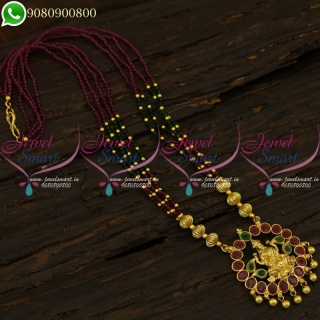 Crystal Necklace Temple Jewelry South Indian Beaded Collections NL21243