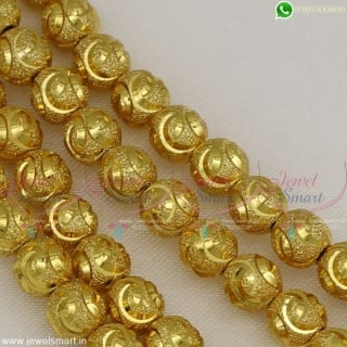 Custom Jewellery Making Beads Gold Plated 6 MM Thickness Latest Design