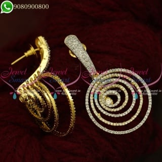 CZ Jewellery Spiral Layer Earrings Designer Imitation Collections Online ER20894