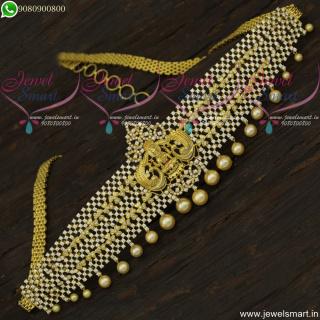 CZ White Dazzling Hip Belt Bridal Temple Jewellery for Wedding Online H22133
