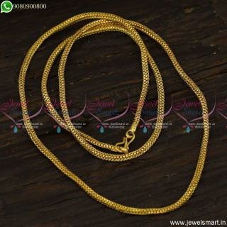 Daily Wear Jewellery Gold Plated Long Chain Designs 30 Inches Online C23625