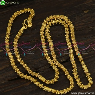 Dasavadaram Gold Plated Chains Double Design Fancy South Indian Jewellery C23523