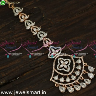 Deepam Design Chain Papidi Billa For Brides Rose Gold Accessories For Hair T24091